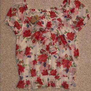 Hollister Floral Print Blouse - Size L